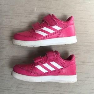Toddler Girls Hot Pink Adidas Sneakers